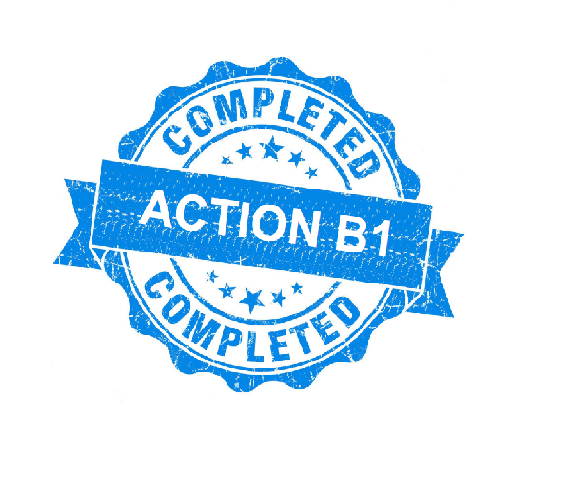 Action B1 completed