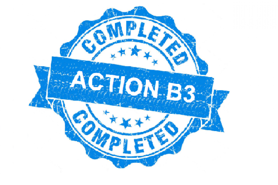 Action B3 completed