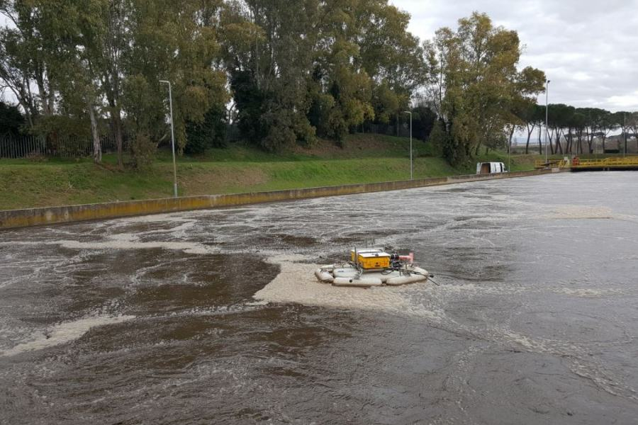B5 – Measurements at Roma Est WRRF with the Lessdrone