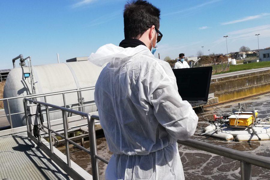 B5 – Measurements at Reggio Emilia WRRF with the Lessdrone