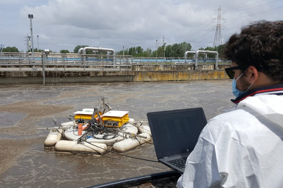 B5 – Measurements at San Colombano WRRF with the Lessdrone